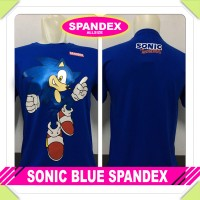 KAOS BAJU DISTRO ANIME/KARTUN - game SONIC BLUE