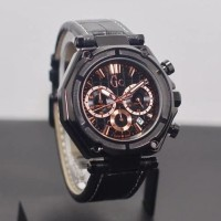 JAM TANGAN PRIA GC/GUESS COLLECTION CHRONOGRAPH CASE BLACK MURAH