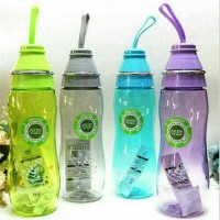 Jual Botol Air Minum Bening Tali Transparan Sporty Bottle Model Memo Murah