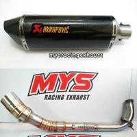 Jual Knalpot AKRAPOVIC Layang Carbon Full System Untuk Yamaha AEROX / NMAX Murah