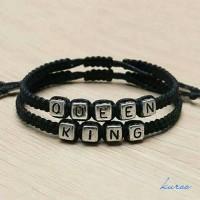 Jual 2 pcs gelang couple pria wanita bracelet king and queen Murah