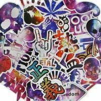 Sticker Bomb Galaxy(laptop, gitar, helm, sepeda dll) @50pcs