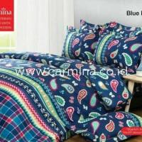 BED COVER BATIK CARMINA- BLUE PAISLEY UKURAN.180/KING/NO 1