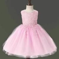 dress pesta gaun pesta anak baju pakaian anak perempuan warna pink