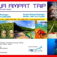 Paket Liburan Tour RAJA AMPAT TRIP Scuba Diving Package