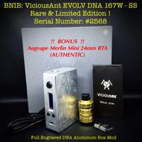 Jual NEW VICIOUS ANT DNA 167 LIMITED EDITION. Viciousant Not therion wismec Murah