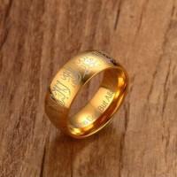 Cincin Pernikahan Islam Wedding Kaligrafi Arabic Quran GOLD +FREE BOX