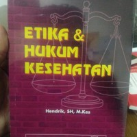 harga Etika & Hukum Kesehatan- Hendrik, Sh., M.kes Tokopedia.com