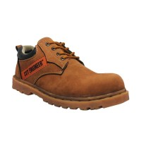 Cut Engineer Safety Low Boots Canada Leather Soft Brown Sepatu Pria