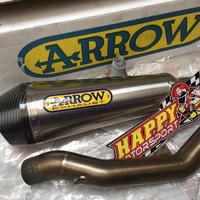 Knalpot slip On Arrow XCone Kawasaki Z800 asli Italy dengan midpipe3/4