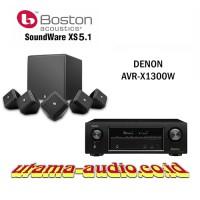 Jual Paket Home Theater Denon AVR-X1300W dan Speaker Boston Soundware XS SE Murah