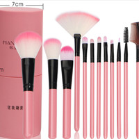 kuas rias wajah / make up brush/ peralatan rias wajah set 12 in box