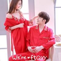 Piyama couple satin impor baju tidur piyama pengantin baru PYS-17
