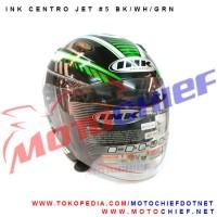 harga Helm Ink Centro Jet Sticker 5 Bk/wh/grn Tokopedia.com