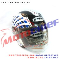 harga Helm Ink Centro Jet Sticker 4 Wh/bk/bl Tokopedia.com