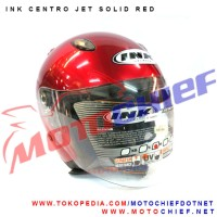 harga Helm Ink Centro Jet Solid Red Maroon Tokopedia.com