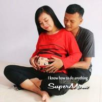 Baju Ibu Hamil Unik Bayi Ngintip SuperMom XL