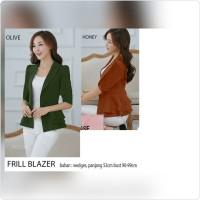 Jual Blazer Frill Jakarta || Blazer Frill Elegan Murah