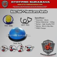 Bosu Ball + Resistance Bands /Balance Step Trainer/Setengah/Bola Yoga