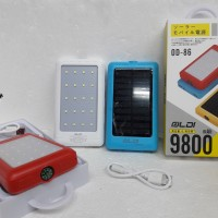 GOOD QUALITY Power Bank Solar Emergency OLDI 20 LED 9800mAh + KOMPAS