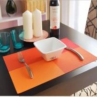 Alas Makan / Alas Piring / Table Mat PVC Anti slip Hijau ketupat Hijau