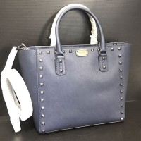 Michael Kors Saffiano Tote Studded Navy Large