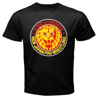 Kaos Keren NJPW NEW JAPAN PRO WRESTLING Logo Bullet Club T-shirt Mens