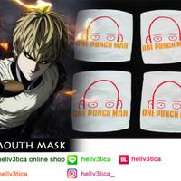 Jual masker mulut one punch man saitama Murah