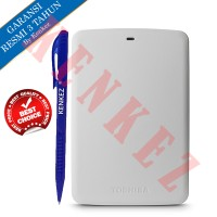 Toshiba Canvio Basic Hardisk Eksternal 1TB USB3.0 - Putih + Pen