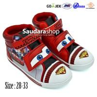 Sepatu Cars / Sepatu Anak Cars Boots Merah / Sepatu Cars [sz 28-33]