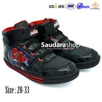 Sepatu Spiderman / Sepatu Anak Spiderman Boots Hitam Merah [sz 28-33]