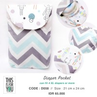 Diaper Pocket / Diaper Pouch / Tempat Pampers / Pouch