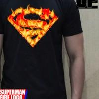 3D TSHIRT SUPERMAN FIRE LOGO ORIGINAL SOULPOWERSTYLE