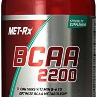 Hardcore BCAA 2200 Met-RX - Suplemen Pemulihan Otot - 180 Kapsul