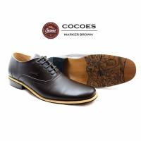 Sepatu Pantofel Kulit Cocoes Marker Coklat Original Handmade Stylish