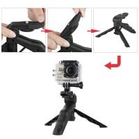 Jual 2 in 1 Portable Mini Folding Hand Monopod Stand Tripod Limited Murah