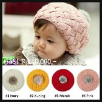 Jual Topi kupluk anak bayi perempuan rajut bagus lembut pineapple hat H361 Murah