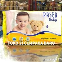 Paseo Baby Wipes Tissue 50 Sheets | Tisu Basah Bayi 50 Lembar Murah