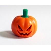 Lego Headgear Head Cover, Pumpkin Jack O' Lantern with Green Stem