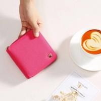 Jual Dompet Wanita Fashion Import Korea - Crown Wallet Kecil Lucu HOT PINK Murah