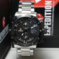 JAM TANGAN EXPEDITION E6381MC BLACK SILVER