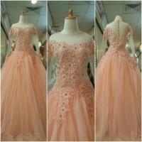 gaun pengantin wanita semi kebaya rok tutu