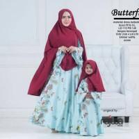 couple gamis plus jilbab syar'i ibu dan anak. baju muslim pasangan