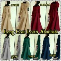 Long Coat/Maxy/Gamis/Baju Muslim Wanita Simple Polos Lotto Abudhabi