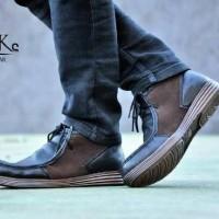 Sepatu Boots Pria Bkc Joker Rajut Kulit Suede