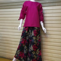 Setelan Stelan Celana Kulot Atasan Katun Ima/baju Muslim Wanita
