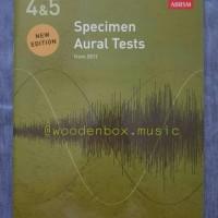 Specimen Aural Test, Grade 4 5 ABRSM buku ujian royal