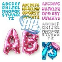 Balon foil huruf murah / balon foil abjad murah