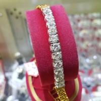 Terbaru Gelang Emas Kuning Full Berlian Banjar