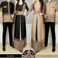 Jual Baju Batik Couple Elegance ( Sepasang Dress Wanita + Kemeja Pria ) Murah
